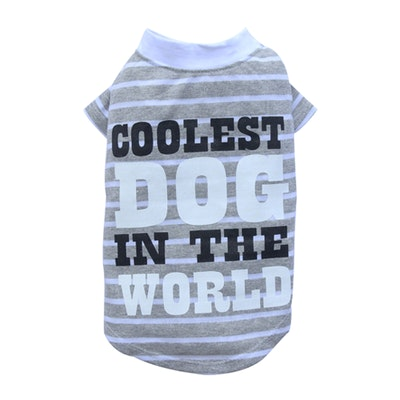 DoggyDolly THICK DOG - Coolest Dog Grey T Shirt