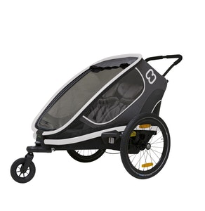 Hamax OUTBACK TWO TRAILER WITH RECLINE - TWO CHILDREN BLACK/GREY