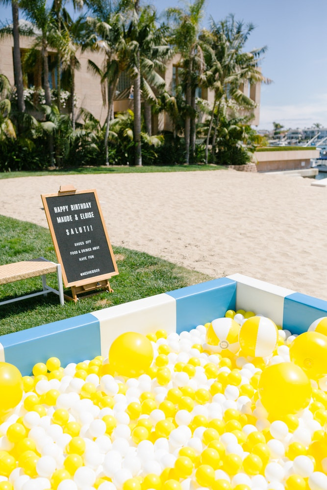 Dolce & Gabbana inspired kids beach birthday party