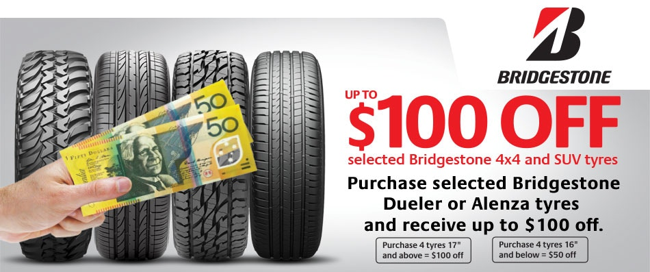 Bridgestone Cash Back Promotion Bob Jane T-Marts