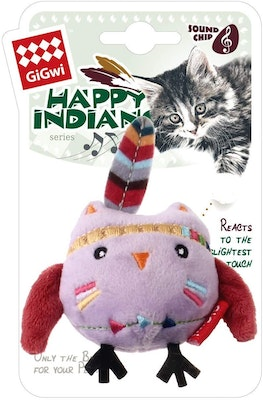 GIGWI Happy Indians Melody Chaser Owl Interactive Cat Toy