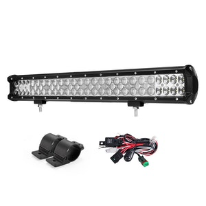 LIGHTFOX LIGHTFOX 23inch Philips LED Light Bar Spot Flood Driving w/ Bullbar Mounting Bracket