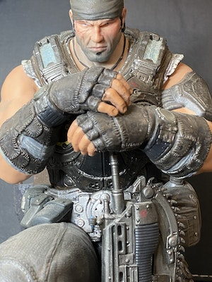 """Gears Of War 3 Limited Edition Marcus Fenix Statue 11"""" Tall Collector's Figure"""