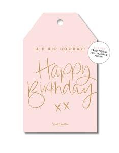 Birthday Script (pink)