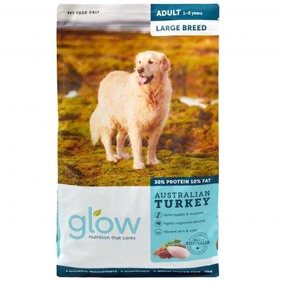 GLOW Large Breed Adult Australian Turkey Dry Dog Food 3kg