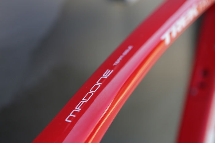 display Trek Madone Top Tube