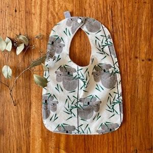 bib - koala / eco friendly / baby toddler / organic cotton hemp fleece / Australia animals / baby shower gift