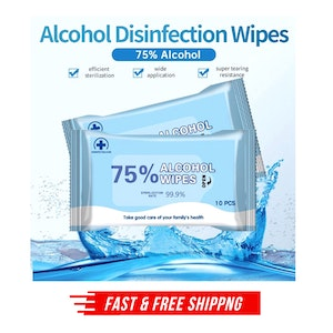 100pcs 75% Alcohol Cleansing Wipes 99.9% Sterilization Rate Clean Sterile