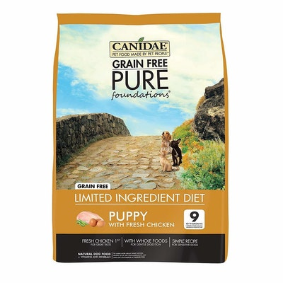 Canidae Puppy Grain Free Pure Foundations Dog Food Fresh Chicken - 3 Sizes