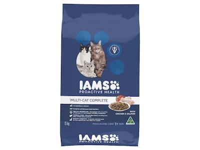 Iams Cat Adult Multi-cat Complete Chicken & Salmon 15kg