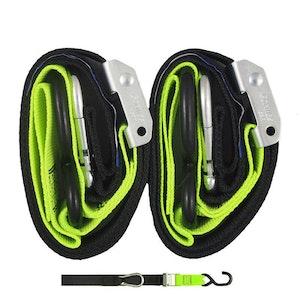 Gorillas Grip Snap Hook 38mm Tie Downs - Black / Green