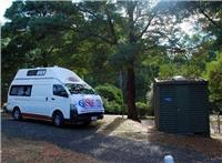 Ensuite site at Port Arthur Caravan Park