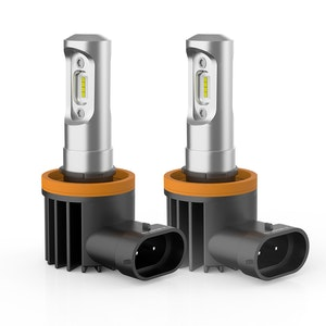 LIGHTFOX LIGHTFOX Pair Philips H8 6000LM LED Headlight Kit High/Low Beam Replace Xenon Halogen Globe