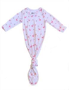 Keep Me Cosy® Bamboo Baby Knotted Gown - Flamingo