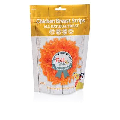 Pooch Treats Chicken Breast Strips 200g