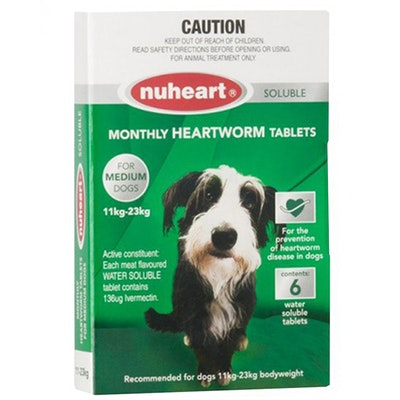 Nuheart Medium Dogs Easydose Soluble Heartworm Tablets