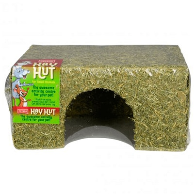 Peters Hay Huts Edible Pressed Small Animals Wood Fibre House - 3 Sizes