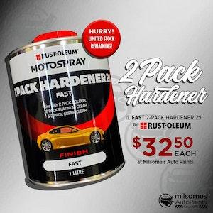 Motospray 2 Pack Hardener 2:1 - 1L Fast