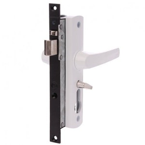 Whitco Tasman MK2 Security Door Lock No Cylinder - White