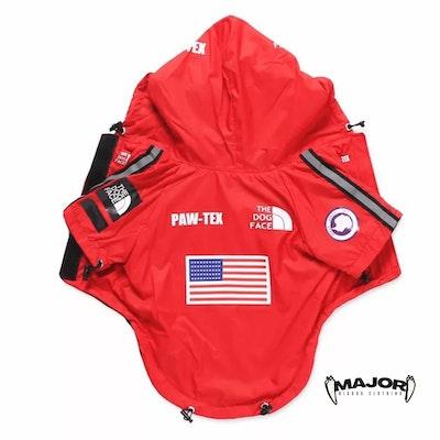 MAJOR Dog Clothing - PAW-TEX Windbreaker 🔴