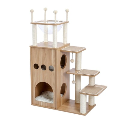 House of Pets Delight Deluxe Cat Tower Condo With Large Space Capsule Nest X-Large