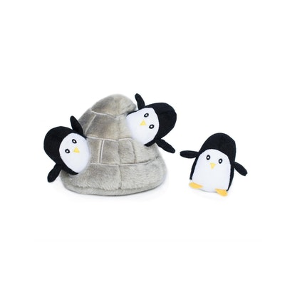 Zippy Paws Christmas Holiday Burrow - Penguin Cave