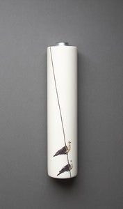 White Headed Pigeon Wall Vase