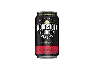 Woodstock Bourbon & Cola 4.8% Can 375mL