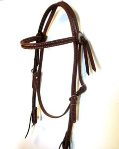Oiled Stitched Headstall