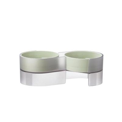 Pidan Dual Bowl For Cats - Green