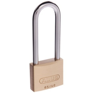 ABUS Brass Padlock 65/40 With 63mm Shackle Keyed to Differ