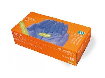 100 pack Premium Nitrile Powder Free Examination Gloves
