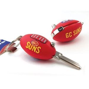 Creative Keys AFL Footy Flip Key Blank with Keyring LW4 – Gold Coast Suns
