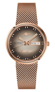 Mido Commander Shade - Stainless Steel with Rose Gold PVD - Milanese Mesh in Stainless Steel with Rose Gold PVD Coating Bracelet