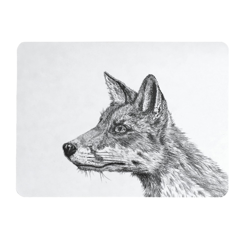Bruce Bramfield Fox Placemats - Set Of Two