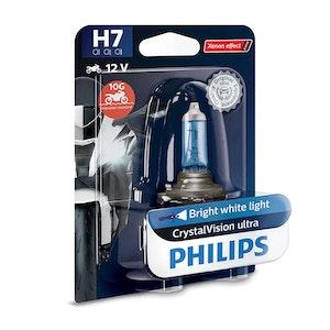 Philips CrystalVision Ultra Moto H7 PX26D 55W Headlight Bulb