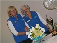 1 Lorraine and Judy Golightly celebrate Beacons  40 years and a national Award