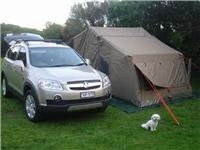 Look what I did. GoSee Guard Dog  Chloe finishes setting up camp