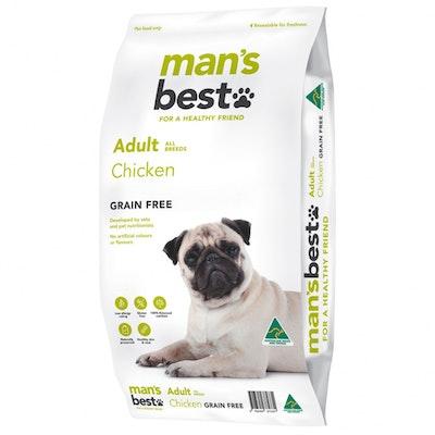 MAN'S BEST Mans Best Adult All Breeds Grain Free Dry Dog Food Chicken - 2 Sizes