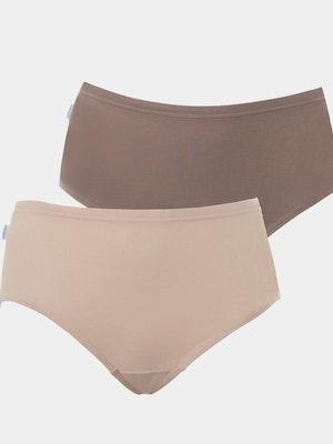 Hikini Bikini Brief 2 Pack - Beige/Brown