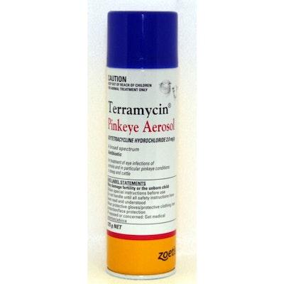 TERMS Terramycin Pinkeye Infection Antibiotic Aerosol for Cattle 125g