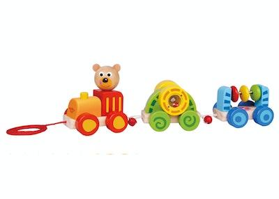Tooky Toy PULL ALONG - LITTLE BEAR TRAIN