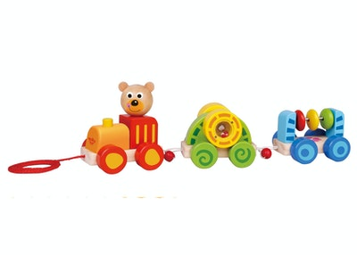 Tooky Toy PULL ALONG - LITTLE BEAR TRAIN