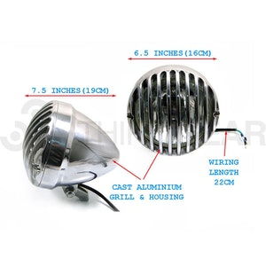 Prison Bar Aluminium Headlight - Chrome