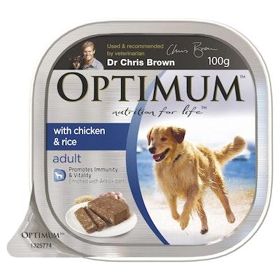 Optimum Wet Dog Food Chicken & Rice 100g
