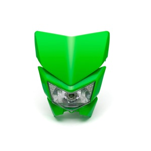 Beasty Supermoto Headlight - Green