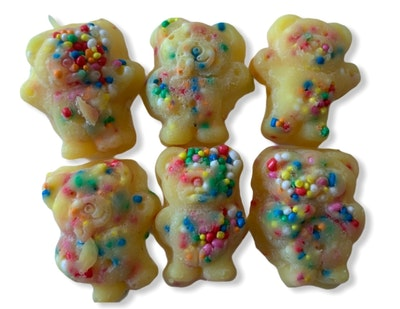 Dirty Bird Gifts Cotton Candy Tiny Teddy Soy Wax Melts - Pack of 6! 2021