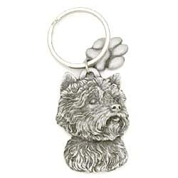 Key Companions Solid Fine Pewter West Highland Terrier  with Paw Keychain