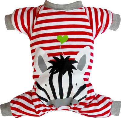 DoggyDolly THICK DOG - Red Zebra Pyjamas