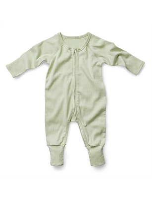 On Chic Baby Clothes Fibre for Good Organic Cotton Romper - Sage